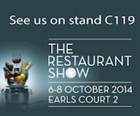 No Tray High Chair at Restaurant Show 2014